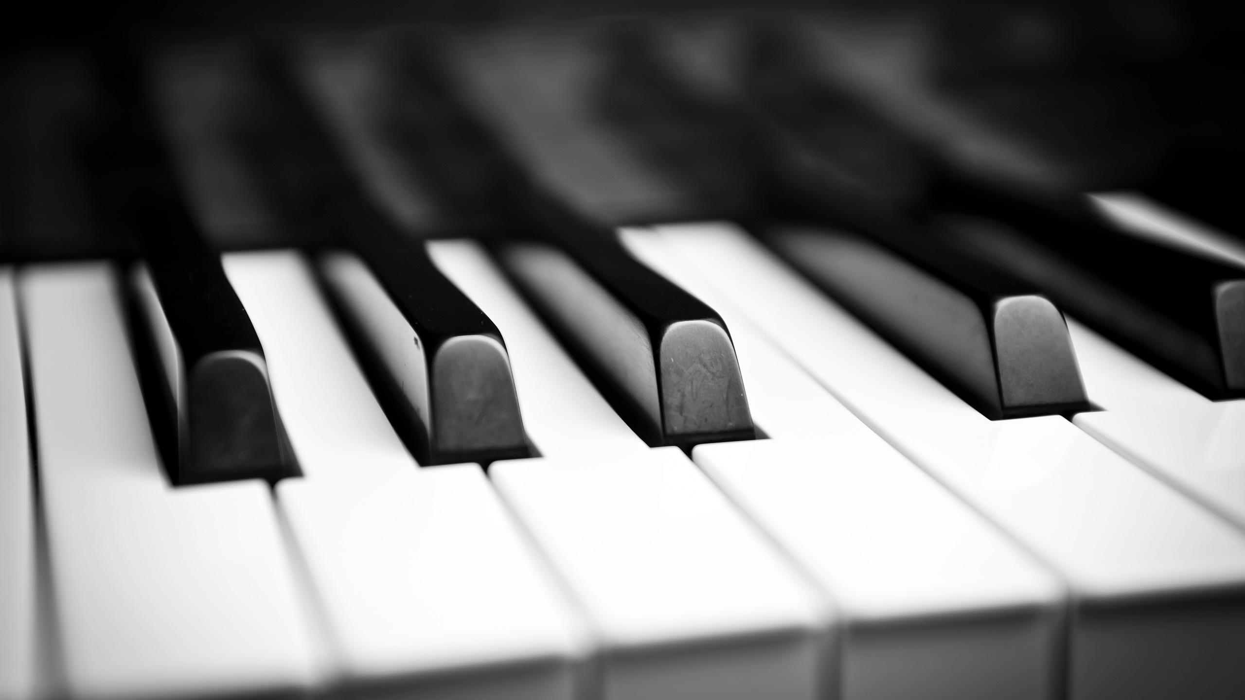 Black & White Close-up Photo of Piano Keys